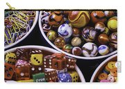 Bowls Full Of Marbles And Dice Carry-all Pouch