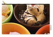 Bowls Of Different Flavor Ice Creams Carry-all Pouch