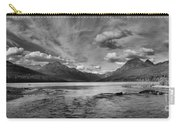 Bowman Lake Black And White Panoramic Carry-all Pouch