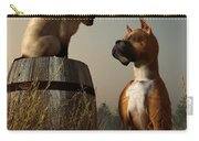 Boxer And Siamese Carry-all Pouch by Daniel Eskridge