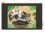 Boxer Hound Cross Dogs Plants Animals Cathy Peek Carry-all Pouch