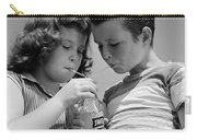 Boy And Girl Sharing A Soda, C.1950s Carry-all Pouch