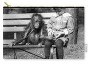 Boy And Orangutan Carry-all Pouch