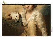 Boy And Rabbit Carry-all Pouch