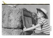 Boy Drawing Duck, C.1950s Carry-all Pouch