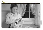 Boy Drying Dishes, C.1950s Carry-all Pouch