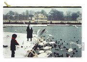 Boy Feeding Swans- Germany Carry-all Pouch