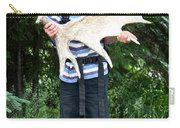 Boy Holding A Moose Antler Carry-all Pouch