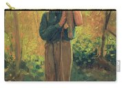 Boy Holding Logs Carry-all Pouch by Winslow Homer