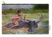 Boy In A Carabao Carry-all Pouch