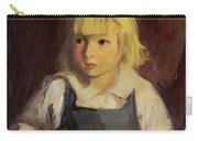 Boy In Blue Overalls Carry-all Pouch by Robert Henri