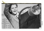 Boy In In Go-cart, C.1940-30s Carry-all Pouch