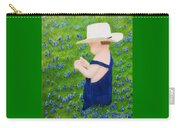 Boy In The Bluebonnets Carry-all Pouch
