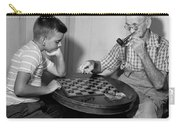 Boy Playing Checkers With Grandfather Carry-all Pouch