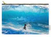 Boy And Wave   Kekaha Beach Carry-all Pouch