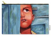 Boy Waiting At Door Carry-all Pouch