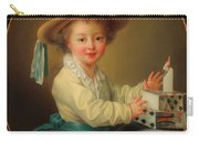 Boy With A House Of Cards                                   Carry-all Pouch