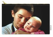 Boy With Bald-headed Baby Carry-all Pouch