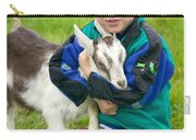 Boy With Goat Carry-all Pouch