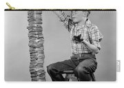 Boy With Huge Stack Of Toast, C.1950s Carry-all Pouch