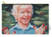 Boy With Raspberries Carry-all Pouch