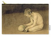 Boy With Skull Carry-all Pouch