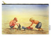 Boys And Trucks On The Beach Carry-all Pouch