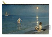 Boys Bathing At Skagen. Summer Evening Carry-all Pouch