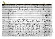 Brahms Manuscript Carry-all Pouch
