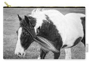 Braids In Mane B/w Carry-all Pouch
