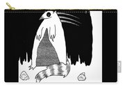 Brains Brewing Noon Raccoon Design By Warwickart Carry-all Pouch