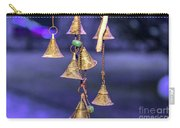 Brass Bells Hanging In The Illuminated Courtyard At Winter Night Carry-all Pouch