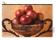 Brass Bowl With Fuji Apples Carry-all Pouch