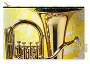 Brass Tuba With Red Roses Carry-all Pouch