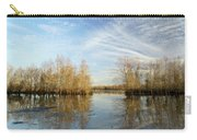 Brazos Bend Winter Reflections Carry-all Pouch
