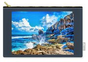 Breakers On The Rocks At Kenridgeview - On - Sea L A S Carry-all Pouch