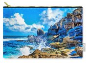 Breakers On The Rocks At Kenridgeview - On - Sea L B Carry-all Pouch