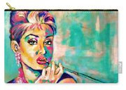 Audrey Hepburn Painting, Breakfast At Tiffany's Carry-all Pouch
