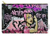Breast Cancer Awarness Never Give Up Carry-all Pouch