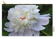 Breathtaking - Festiva Maxima Double White Peony Carry-all Pouch
