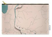 Bremen Bundesland Germany 3d Render Topographic Map Neutral Bord Carry-all Pouch