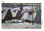 Breton Village Under Snow Carry-all Pouch by Paul Gauguin