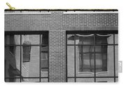 Brick Building Black And White Carry-all Pouch
