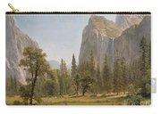 Bridal Veil Falls Yosemite Valley California Carry-all Pouch by Albert Bierstadt