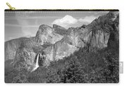 Bridalveil Falls From Tunnel View B And W Carry-all Pouch