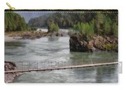 Bridge Across Mountain River Carry-all Pouch