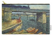 Bridge Across The Seine At Asnieres Carry-all Pouch
