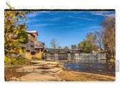Bridge And Creek In The Fall Carry-all Pouch