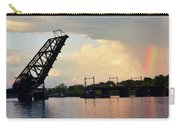 Bridge And Rainbow Over Seekonk River Carry-all Pouch