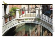 Bridge And Reflection Venice, Italy Carry-all Pouch